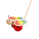Hape蝴蝶推推乐1-6岁学步系列儿童益智木制玩具婴幼玩具拖拉学步E0340
