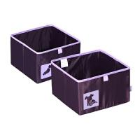 紫罗兰系列4格衬衫格配套抽屉A款收纳盒杂物整理盒办公桌面化妆品储物盒