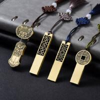 中国风创意复古典如意u盘64g金属青铜公司商务礼品定制印logo刻字