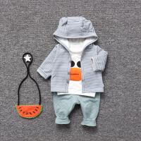 婴儿童三件套0岁1个月新生儿衣服季冬装3宝宝爬服春季新年
