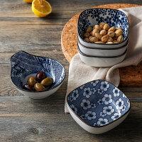 奇居良品 日式和风创意厨房餐具 青花纹陶瓷小餐碗小食碟沙拉碟