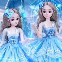60厘米大��Y盒黛�{芭比洋娃娃套�b女孩玩具公主�和����仿真