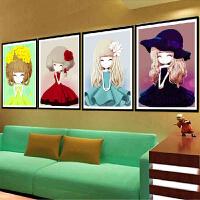 菲绣绣艺 5D钻石画魔方钻十字绣新款客厅可爱小女孩姑娘钻石绣卡通卧室系列