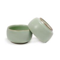 茶具普润(PU RUN) 陶瓷故事 汝窑陶瓷功夫茶具 鼓形杯 哑光天青釉 开片鼓型杯 单个价