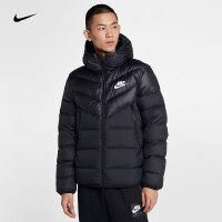 Nike耐克2018年新款男子双向拉链连帽短款包边轻便羽绒服928834-010