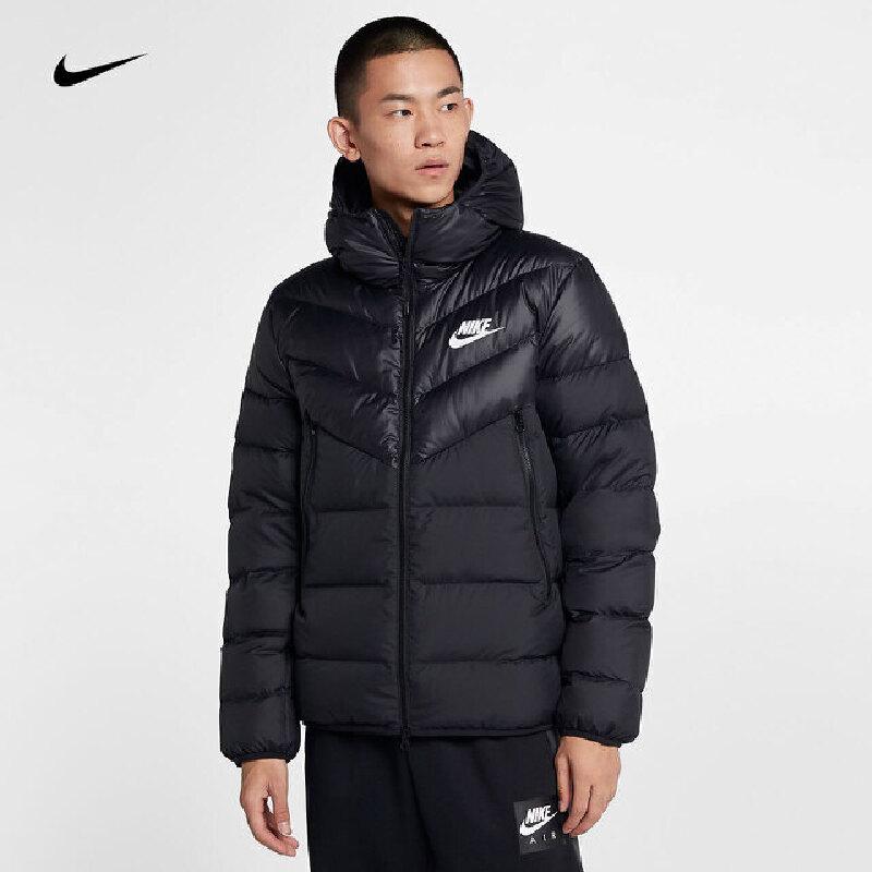 Nike耐克2018年新款男子双向拉链连帽短款包边轻便羽绒服928834-010 秋装尚新 潮品来袭 正品保证