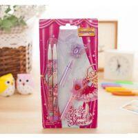 韩国 可爱 芭比公主儿童自动铅笔套装 挂饰笔