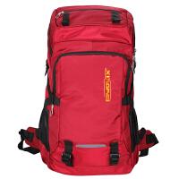 双肩包男60L旅行超大容量背包多功能行李包女户外登山包旅游包 红色