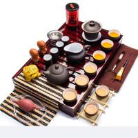 紫砂茶具套装一件 整套实木茶博士茶盘陶瓷功夫茶具t8d