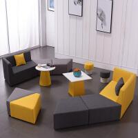 办公沙发茶几组合套装简约现代洽谈接待室会客区百变休闲创意沙发