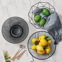 摆件创意家居现代客厅家用铁艺收纳储物沥水篮欧式水果篮