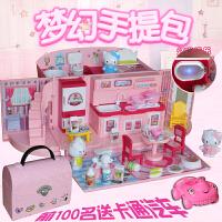 小伶儿童过家家玩具公主手提包迷你厨房做饭仿真套装厨具女孩礼物