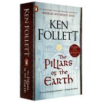 The Pillars of the Earth 圣殿春秋 英文原版小说 畅销历史小说 英文版原版 巨人的陨落作者肯福莱
