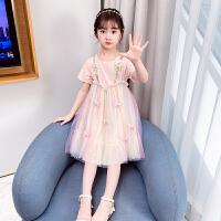 女童连衣裙夏装儿童纱裙夏季小女孩短袖公主裙子