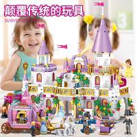 乐高积木女孩子系列公主梦艾莎城堡冰雪奇缘儿童益智拼装玩具礼物