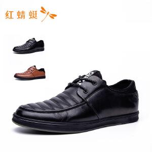 红蜻蜓新款潮流时尚皮鞋男