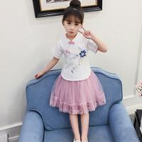 儿童汉服中国风古装超仙襦裙小女孩夏装公主复古唐装套装女童裙子