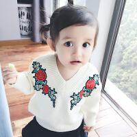 蓓莱乐婴儿童装毛衣服针织外0岁6月宝宝春冬装婴儿套头装上衣新年