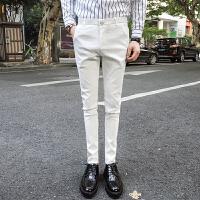 气质2018春季男士休闲小脚裤男修身型西裤男小西装裤发型师裤子潮