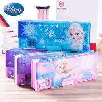 迪士尼冰雪奇缘儿童密码铅笔盒小学生女带卷笔刀双层多功能文具盒