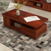 实木电视柜茶几组合现代简约客厅伸缩家具套装中式小户型储物地柜 组装