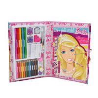 练习本 芭比儿童彩色铅笔套装组合A460941彩妆化妆练习本 小号 大号可选