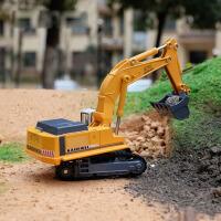 挖土机合金工程车玩具小汽车模型1:87合金挖掘机儿童玩具