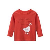 男女童春款长袖T恤卡通印花洋气小童纯棉圆领打底衫