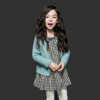 2017秋冬款韩版女童格子连衣裙长袖童装公主裙纯棉中大儿童娃娃裙