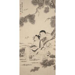 Z1622 潘振镛《福寿图》(北京文物公司旧藏)