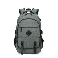 【保暖季大促满299减200】欧美新款双肩包男USB背包时尚男士电脑包书包