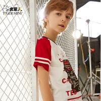 【专区任选3件79元】小虎宝儿男童短袖T恤2019夏季新款韩版洋气圆领运动休闲男童体恤