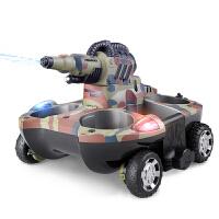 儿童遥控玩具 遥控坦克船水陆两栖坦克 四驱遥控车 遥控水陆两用 [高配2块电池 续航40分钟]+遥控电池、螺丝刀