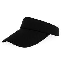 夏季新款韩版棒球帽女防晒空顶帽户外运动网球帽无顶太阳帽遮阳帽