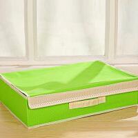 普润 二合一糖果色(15+1格)清新带盖无纺布文胸内衣袜子整理盒 绿色
