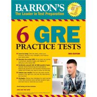 BARRON'S 6 GRE PACTICE TESTS, 3RD ED,BARRON'S 6 GRE PACTICE