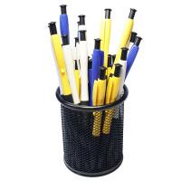 圆珠笔蓝黑色芯按动油笔广告笔学生用办公文具送笔桶批发