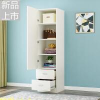 简约现代经济型组装衣柜单门衣橱紧凑型小柜子收纳柜定制 单门4层+ 2抽 白色 单门