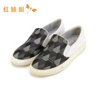 红蜻蜓男鞋夏季新款乐福鞋男真皮一脚蹬懒人鞋子韩版休闲