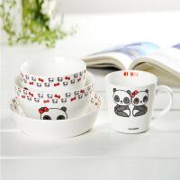 甜甜熊 陶瓷餐具四件套装/陶瓷碗组合 礼盒包装