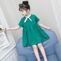 女童连衣裙夏装2018新款韩版超洋气夏季儿童公主裙小女孩裙子 绿色(预售7天发货)