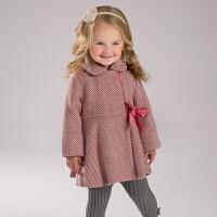 davebella戴维贝拉  女童秋冬加厚外套 宝宝保暖毛呢外出服