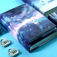 密码本小学生女少女儿童简约笔记本带锁的复古古风创意可爱日记本
