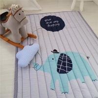 四季加厚宝宝爬行垫防滑儿童地垫游戏毯折叠榻榻米布质婴儿爬爬垫