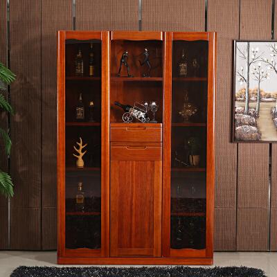 海棠木纯实木酒柜隔断柜 现代简约中式玄关柜酒柜吧台