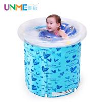 优敏婴儿游泳池支架冬夏 保温戏水池 充气加厚婴幼儿童宝宝游泳桶