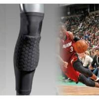 【限时特惠】运动PRO 篮球护具 蜂窝防撞加长护膝 护小腿 篮球护腿锦纶