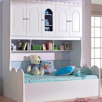 青少年儿童床卧室家具实用板木收纳衣柜床韩式衣柜床