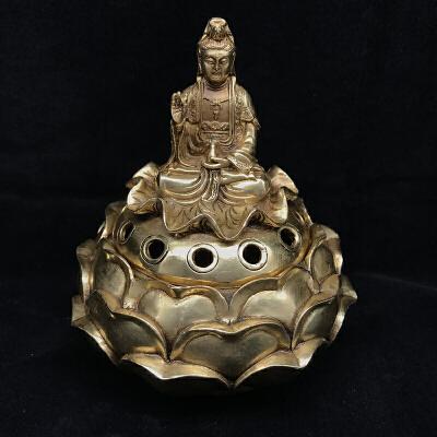 菩萨香炉铜摆件