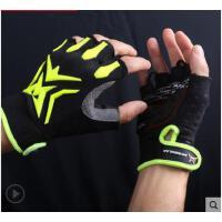 儿童用减震防滑骑单车自行车手套 男女健身骑行手套半指成人款手套